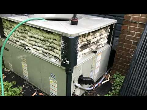Trane Gas Packaged HVAC Unit coil cleaned and performance check