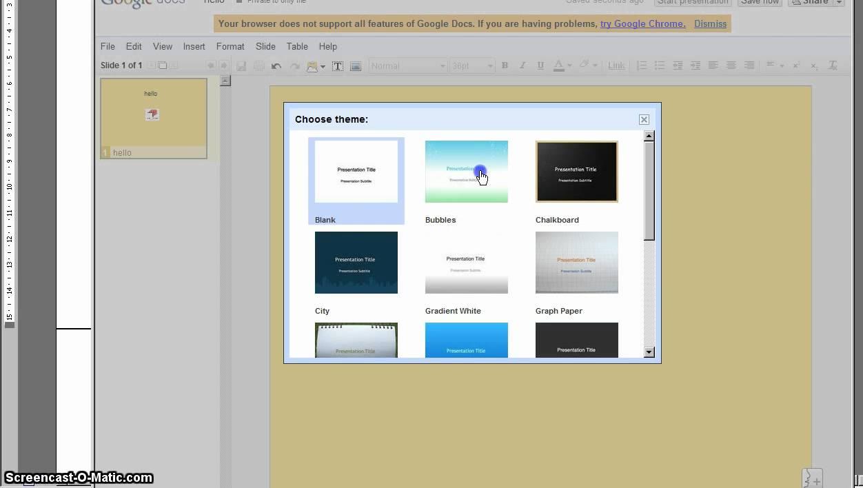 Background image on google docs - Changing Background And Theme Google Docs Presentation