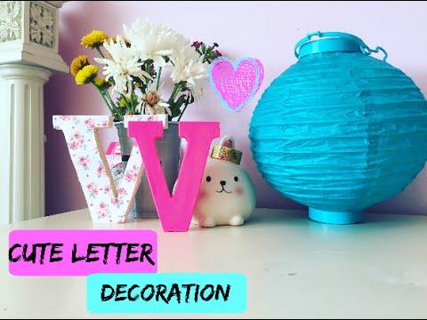 Tumblr Room Decor: DIY Wooden Letters