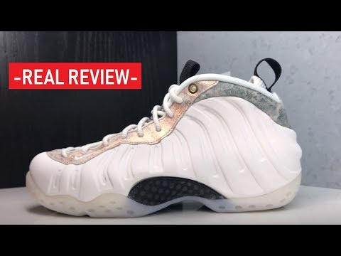 official photos aafec 3c3c6 Nike Air Foamposite One Summit White Oil Grey Rainforest Sneaker Detailed  Review By Delz