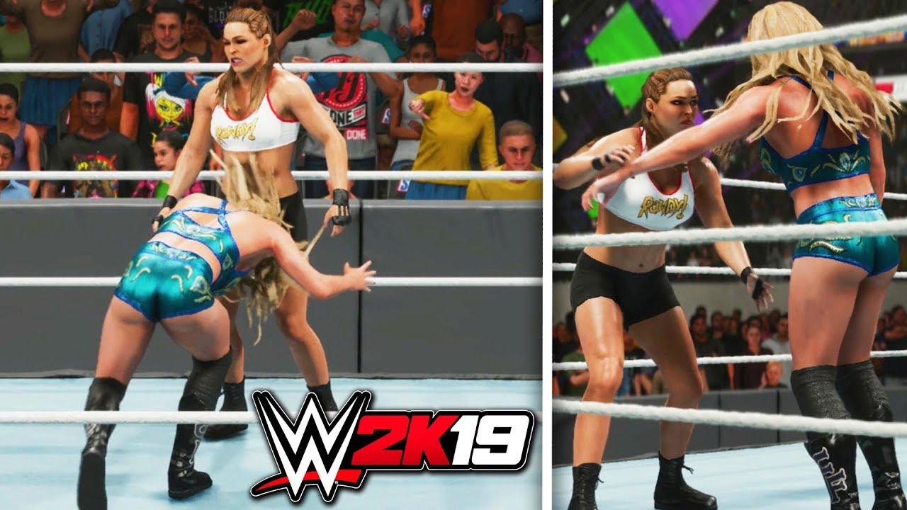 Lucha Libre Youtube Wwe 2k19 Exclusive Ronda Rousey Vs Charlotte Flair Wrestlemania