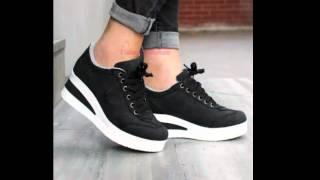 Spor dolgu topuk ayakkabı modelleri