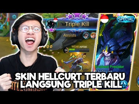 NEW SKIN HELLCURT TRIPLE KILL TAPI KOK GINI...!? - MOBILE LEGENDS INDONESIA