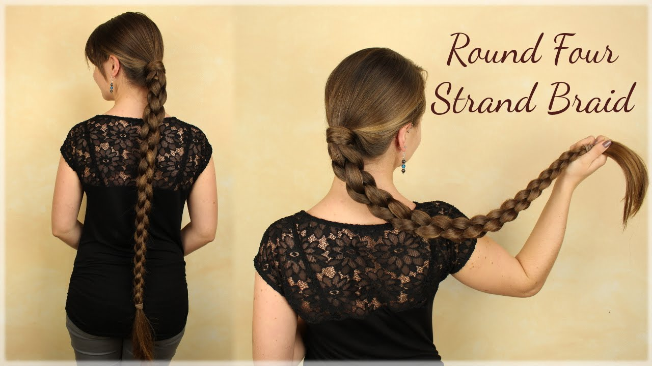 Round Four Strand Braid for long hair   YouTube Round Four Strand Braid for long hair  Haartraum