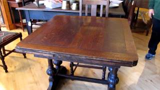 Cool Sliding Extensions Antique Table