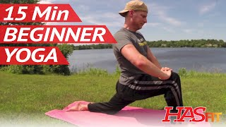 15 Min Yoga for Beginners w/ Sean Vigue - Beginner Yoga for Weight Loss, Strength, Flexibility