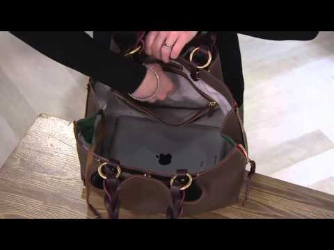 dec1c29df26 Dooney   Bourke Florentine Leather Large Zip Barlow Satchel on QVC ...