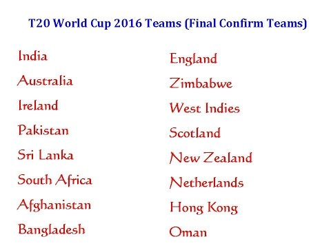 T20 World Cup 2016 In India, Schedule, Teams, Format, Venue