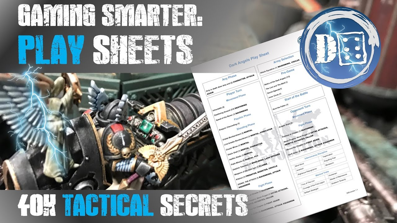 40k tactics: Speeding up your game with play sheets