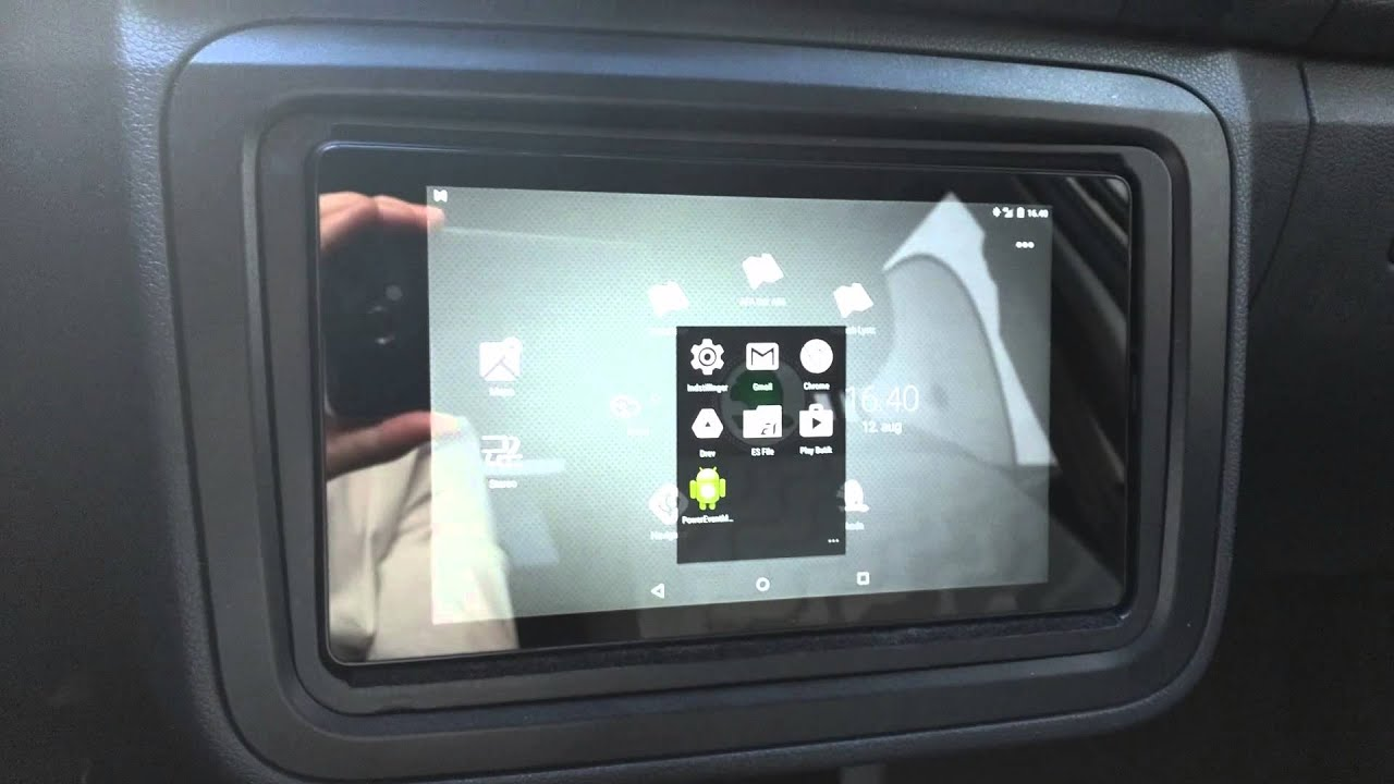 nexus 7 car install skoda fabia - youtube
