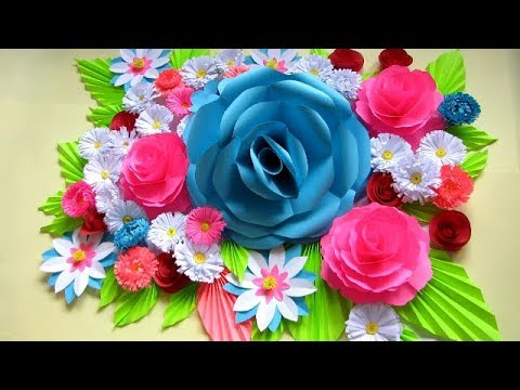Diy Wall Decor Ideas With Paper Flower Bouquet Paper Crafts