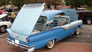 1957 Ford Fairlane 500 Skyliner (actual retractable top demo)