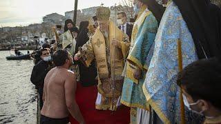 В Стамбуле в условиях пандемии отметили Богоявление
