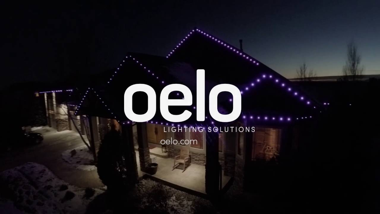oelo drone cam craftsman style home s permanent led christmas