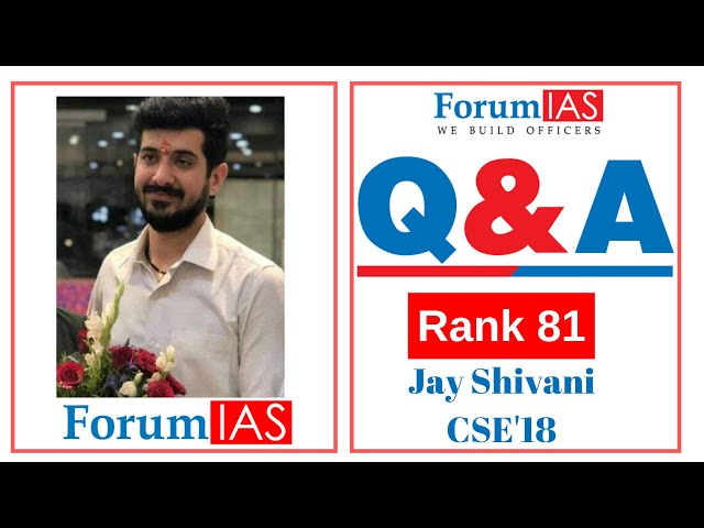 Started preparing from College days| Jay Shivani AIR 81CSE'18| 2nd Attempt| Maths Optional