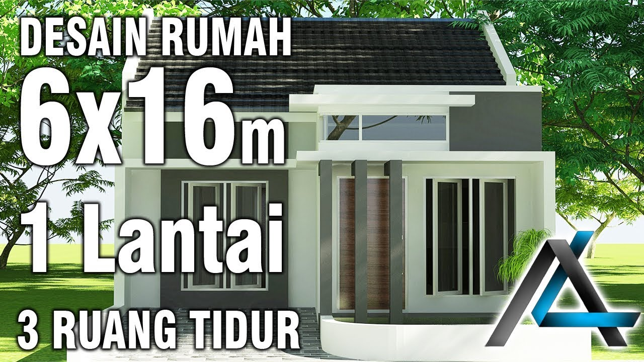 Desain Rumah Sederhana 6 X 12 3 Kamar