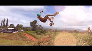 bike park maui   dirt boards mountain bikes backflips 360