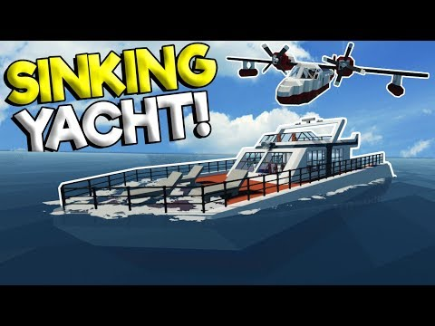 MULTIPLAYER YACHT SINKING SHIP SURVIVAL & RESCUE! - Stormworks: Build And Rescue Gameplay Survival