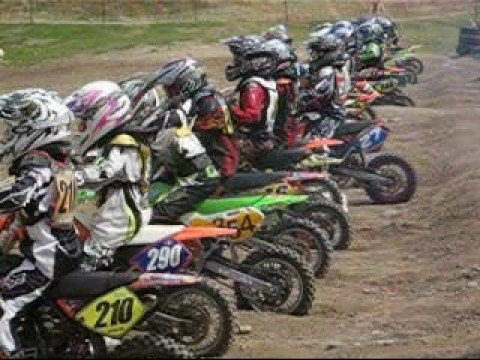 Thumbnail: Robbie Murchison racing 65cc B grade motocross at Stanmore Park 05 Oct 2008