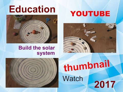 Learn to build your own solar system school project