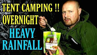 Camping in the rain, S๐lo tent camping in heavy rainfall using a whitehills tent.