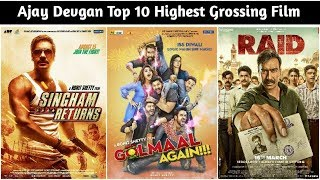 Top 10 Ajay Devgan Highest Grossing Films List