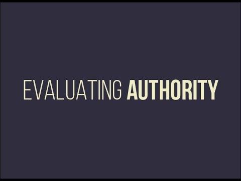 Evaluating Authority