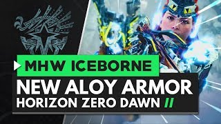 Monster Hunter World Iceborne | New Horizon Zero Dawn 'Aloy' Frozen Wilds Armor & Light Bowgun