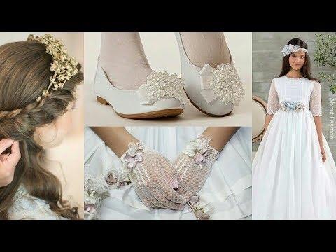 Primera comuni n ni a 2019 peinados vestidos guantes - Ideas para decorar zapatos de nina ...