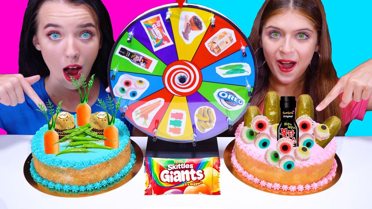 ASMR Cake Decorating Challenge | Eating Sounds LiLiBu