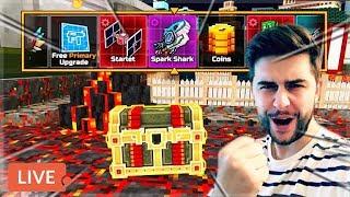 OPENING 100 LUCKY CHESTS! THE SPARK SHARK HUNT!   Pixel Gun 3D