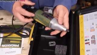 saturday workshop - demonstrating the proxxon ibs/e 12v professional drill/grinder