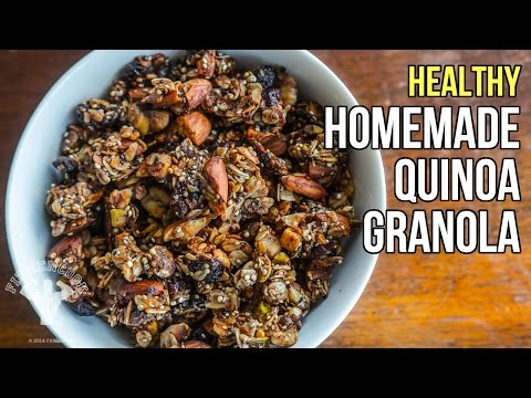Healthy Homemade Quinoa Granola / Granola Saludable con Quinoa