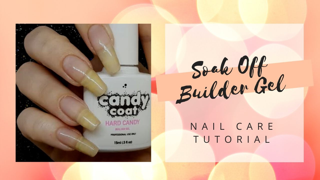 Soak Off Gel Overlays Tutorial - Builder Gel in a Bottle on Natural ...