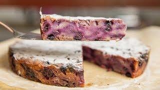 ПРОВЕРКА РЕЦЕПТА | Очень простой пирог с черникой в духовке | Пирог на скорую руку  | АСМР