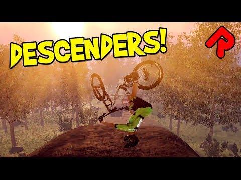 Descenders gameplay: Lightning-fast downhill stunt biking! (PC, Mac, Linux game)