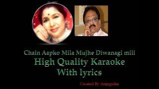 Chain Aapko mila karaoke with lyrics and original song (100% Original Quality)