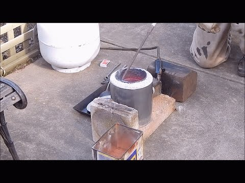 When back yard metal casting goes wrong