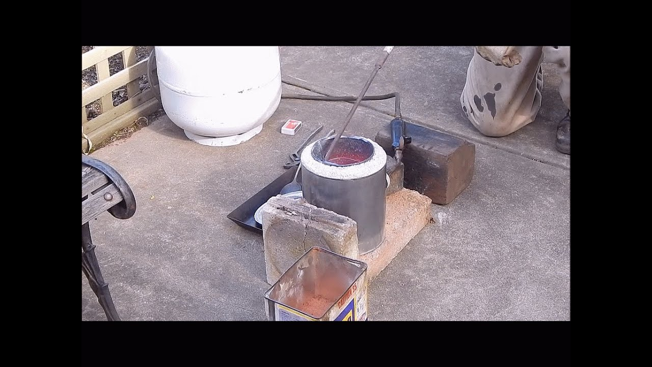 when back yard metal casting goes wrong youtube
