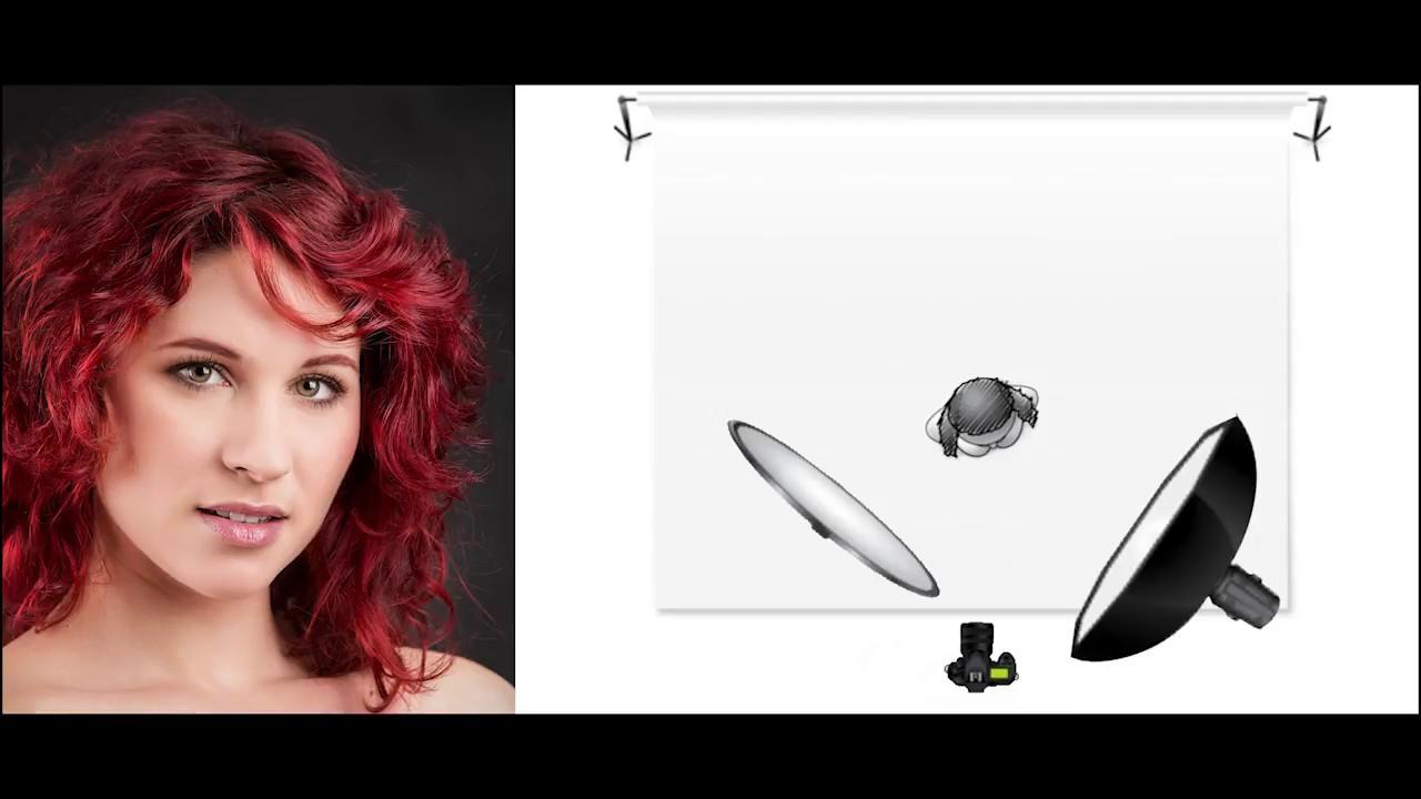 Schemi di luce flash per ritratti in studio. youtube