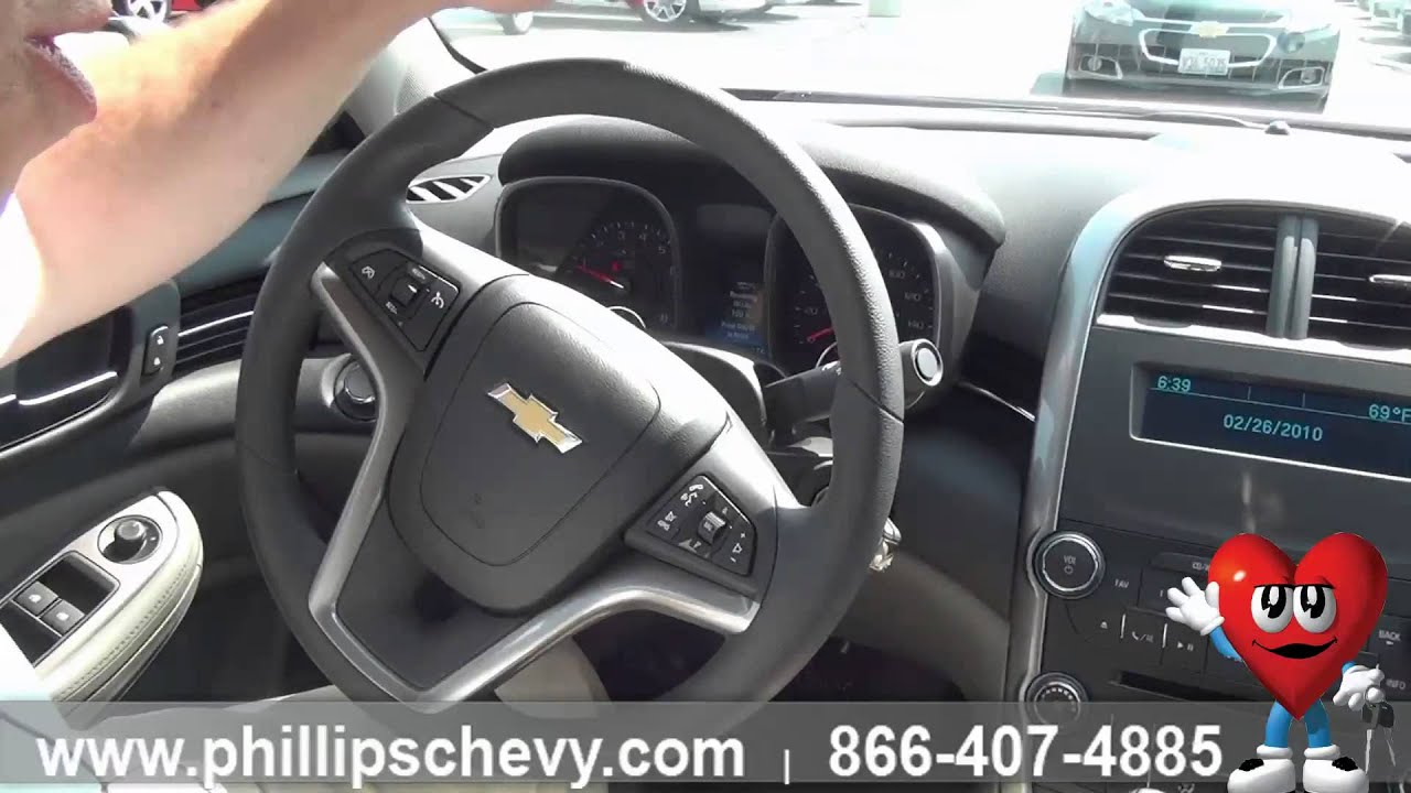 2015 Chevy Malibu LS  Interior Features  Phillips Chevrolet  Chicago New Car Dealership  YouTube
