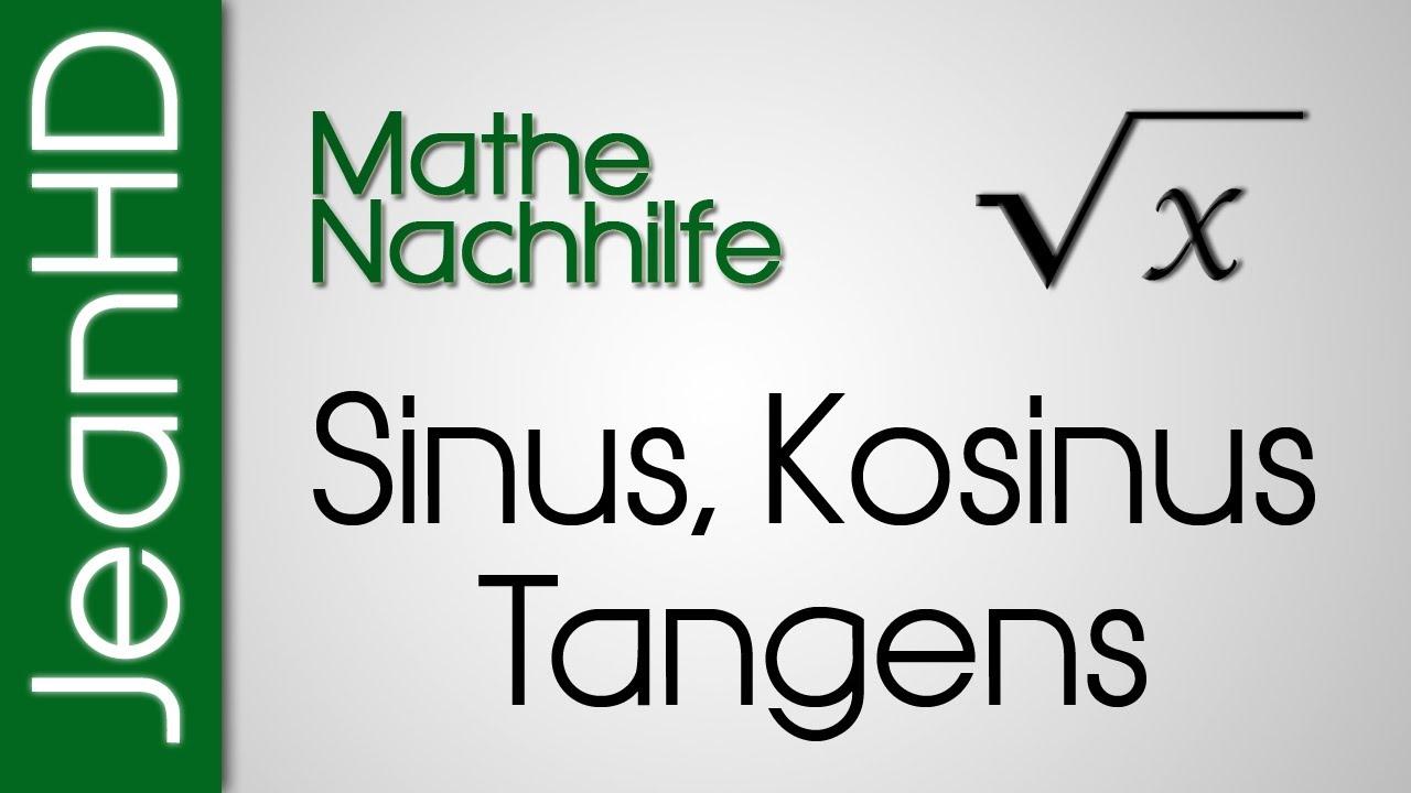 Mathe Nachhilfe - Sinus, Kosinus, Tangens - YouTube