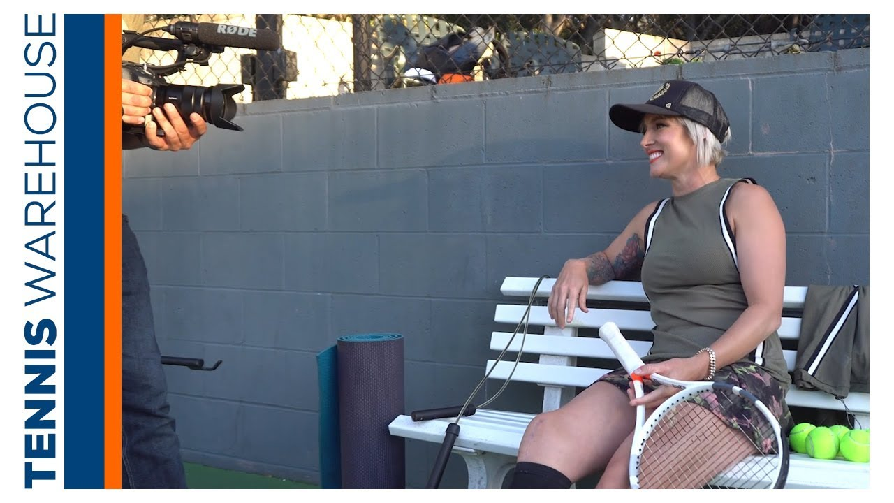 Behind the scenes with Bethanie Mattek-Sands at Tennis Warehouse