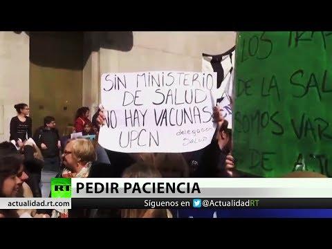 Argentinos rechazan la decisi�n de Macri de convertir el Ministerio de Salud en Secretar�a