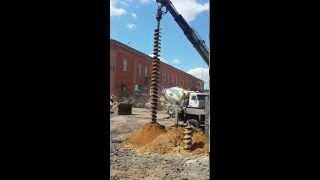 Бурение под фундамент(Бурение на глубину 12 метров диаметром 450мм под фундамент торгового комплекса в город Клин http://www.extra-stroy.ru., 2014-06-25T07:26:49.000Z)