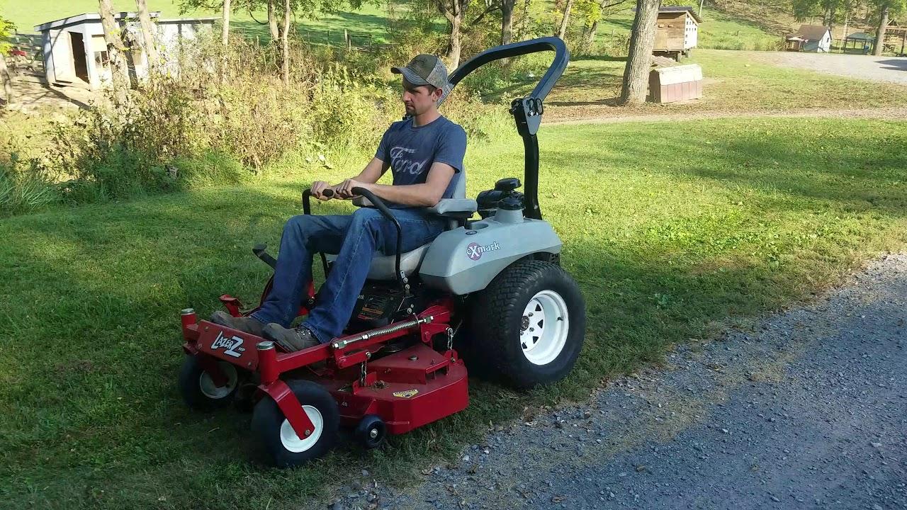 Exmark Lazer Z Hp W   48 U0026quot  Deck Riding Zero Turn Lawn Mower For Sale Inspection Video