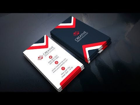 Awesome Red Corporate Business Card | Photoshop Tutorials thumbnail