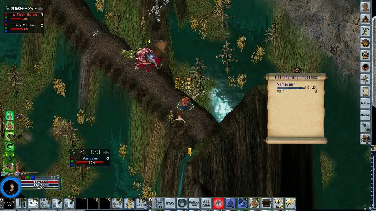 Ultima Online (noob)Tamer Necro Mage vs  Lady Melisande /Pub98