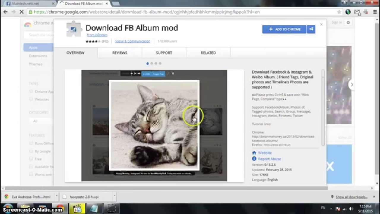 How to download facebook albums with google chrome !!!