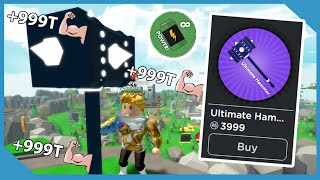 I Unlocked The Ultimate Hammer And Infinite Power In Roblox Hammer Simulator